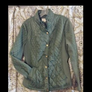 Jackets & Blazers - Merona Army Green Quilted Jacket